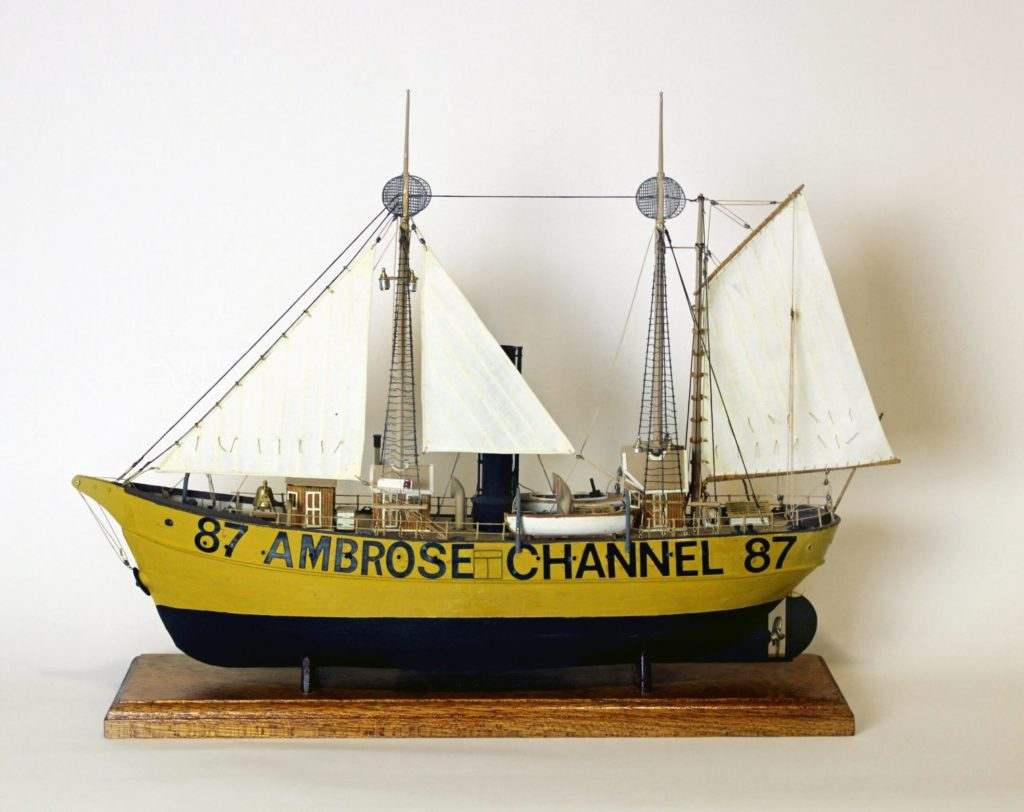 Scale ship model of lightship Ambrose LV-87/WAL-512, 1988