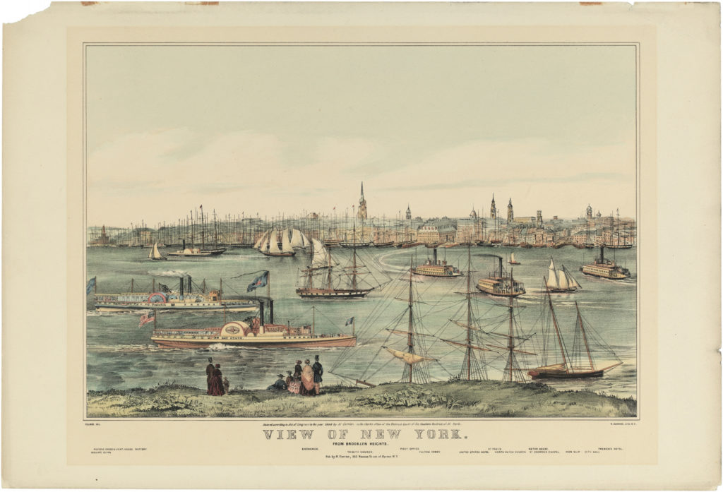 View of New York From Brooklyn Heights, n.d. (reproduction), 1849 (original)