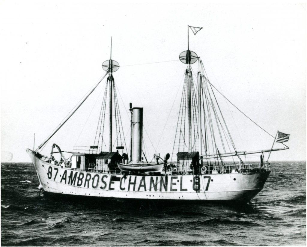 Lightship Ambrose in the Ambrose Channel