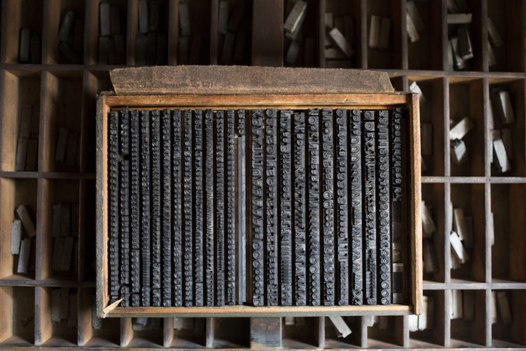 """Selection of printing types from the Frederic Nelson Phillips """"Tri-Arts"""" Collection"""